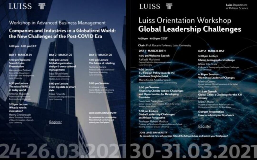 Series of seminars from LUISS Italian Partners for students of IGSU